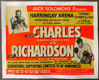 CHARLES, EZZARD-DICK RICHARDSON ON SITE POSTER (1956)