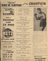 LOUIS, JOE EXHIBITION PROGRAM (1949-AGAINST STERLING INGRAM)