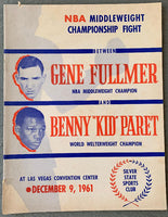 "FULLMER, GENE-BENNY ""KID"" PARET OFFICIAL PROGRAM (1961)"