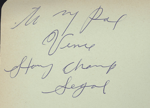 "SEGAL, HARRY ""CHAMP"" INK SIGNED ALBUM PAGE"