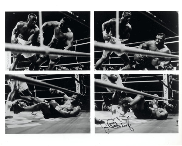 "DOUGLAS, JAMES ""BUSTER"" SIGNED PHOTO (SEQUENCE OF TYSON KNOCKOUT)"