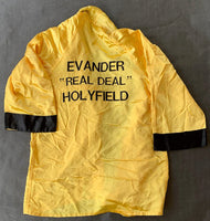 HOLYFIELD, EVANDER FIGHT WORN ROBE (BOWE II FIGHT-1993)