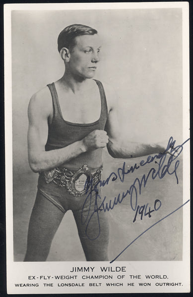 WILDE, JIMMY SIGNED PHOTO POSTCARD