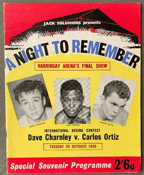 ORTIZ, CARLOS-DAVE CHARNLEY OFFICIAL PROGRAM (1958)