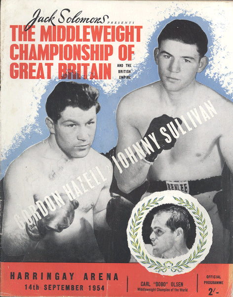 COOPER, HENRY-HARRY PAINTER OFFICIAL PROGRAM (1954-COOPER'S PRO DEBUT)