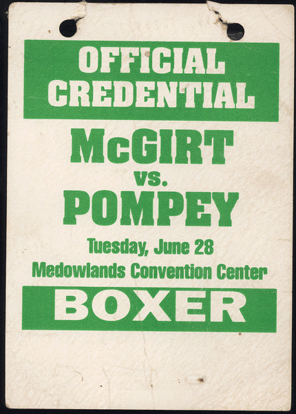 MCGIRT, BUDDY-KEVIN POMPEY OFFICIAL CREDENTIAL (1994)