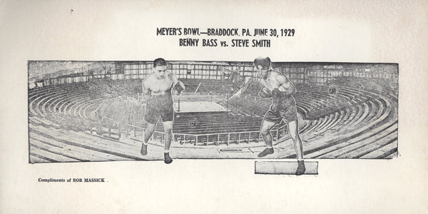 BASS, BENNY-STEVE SMITH ADVERTISEMENT (1929)