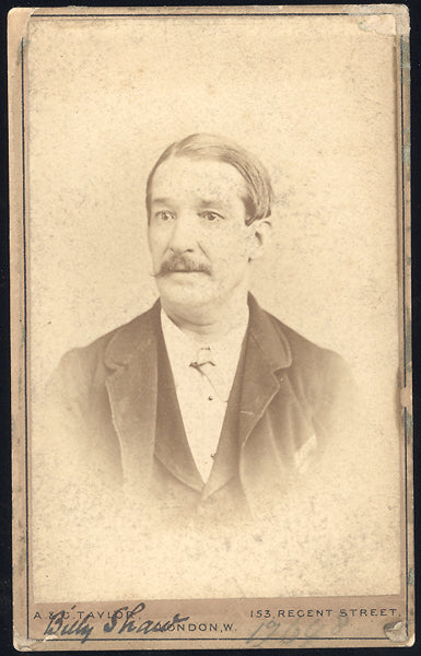 SHAW, BILLY EARLY ENGLISH SPORTSMAN CARTE DE VISITE