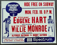 "MONROE, WILLIE-EUGENE ""CYCLONE"" HART ON SITE POSTER (1974)"