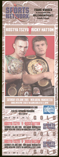HATTON, RICKY-KOSTYA TSZYU FULL TICKET (2005)