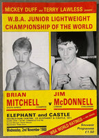 MITCHELL, BRIAN-JIM MCDONNELL OFFICIAL PROGRAM (1988)