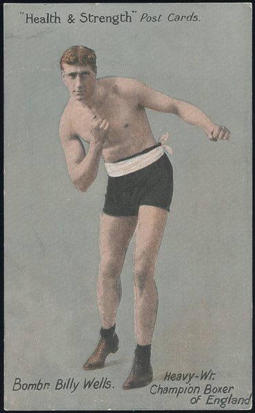 WELLS, BOMBARDIER BILLY PHOTO POSTCARD (HEALTH & STRENGTH)