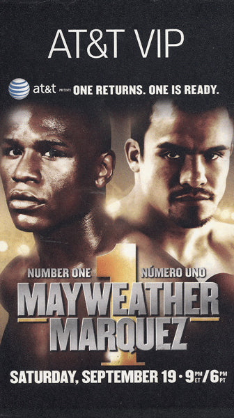 MAYWEATHER, JR., FLOYD-JUAN MANUEL MARQUEZ VIP PARTY VIEWING PASS (2009)
