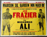 ALI, MUHAMMAD-JOE FRAZIER I SIGNED ON SITE POSTER (1971-PSA/DNA)