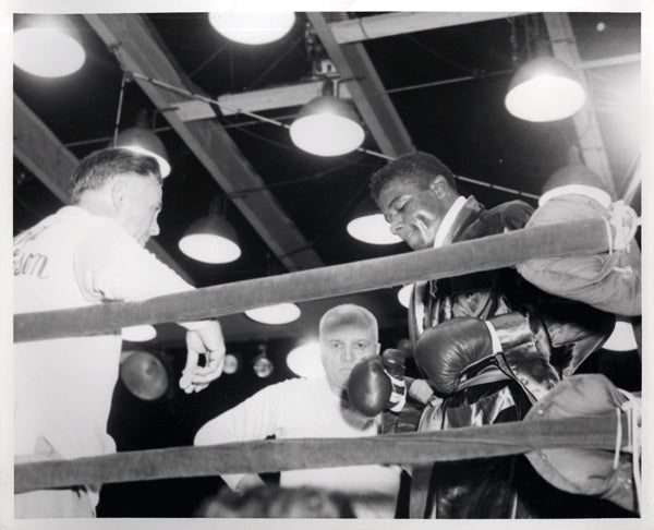 PATTERSON, FLOYD & CUS D'AMATO ORIGINAL PHOTO (1957-BEFORE RADEMACHER FIGHT)