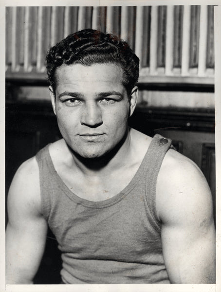 RISKO, BABE WIRE PHOTO (1935-BEFORE FIGHT WITH DUNDEE)