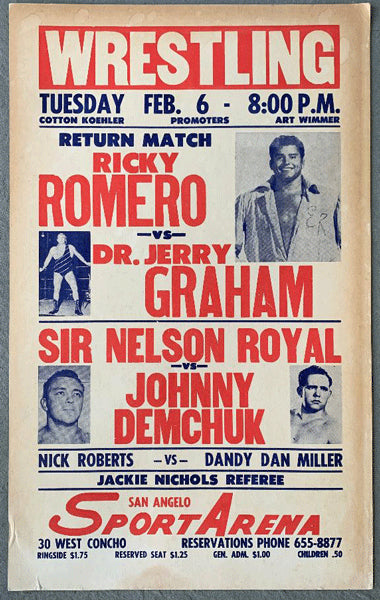 GRAHAM, DR. JERRY-RICKY ROMERO ON SITE POSTER (1962)