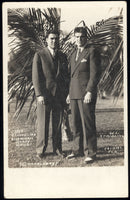 SCHMELING, MAX-YOUNG STRIBLING REAL PHOTO POSTCARD