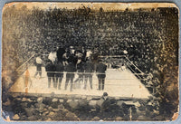 WOLGAST, AD-BATTLING NELSON ORIGINAL ANTIQUE PHOTO (1910)