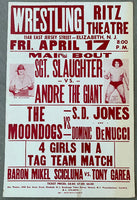 ANDRE THE GIANT VS. SGT. SLAUGHTER ON SITE POSTER (1981)