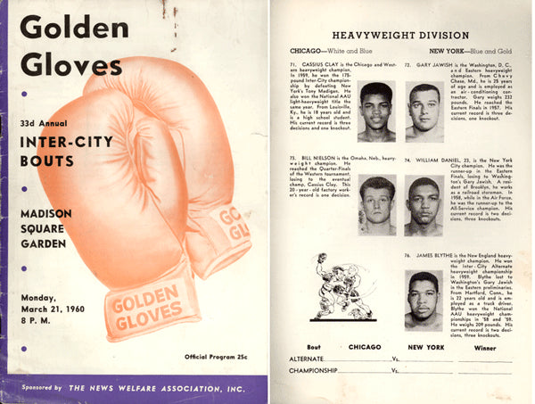 CLAY, CASSIUS INTER CITY GOLDEN GLOVES PROGRAM (1960)