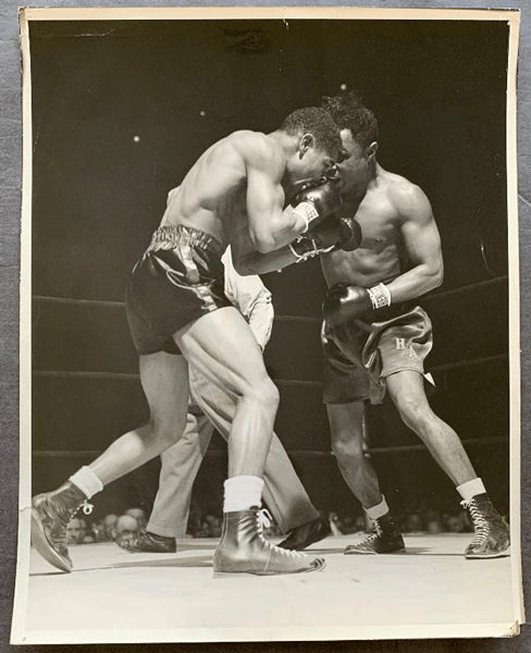 ARMSTRONG, HENRY-BEAU JACK ORIGINAL LARGE FORMAT WIRE PHOTO (1943)