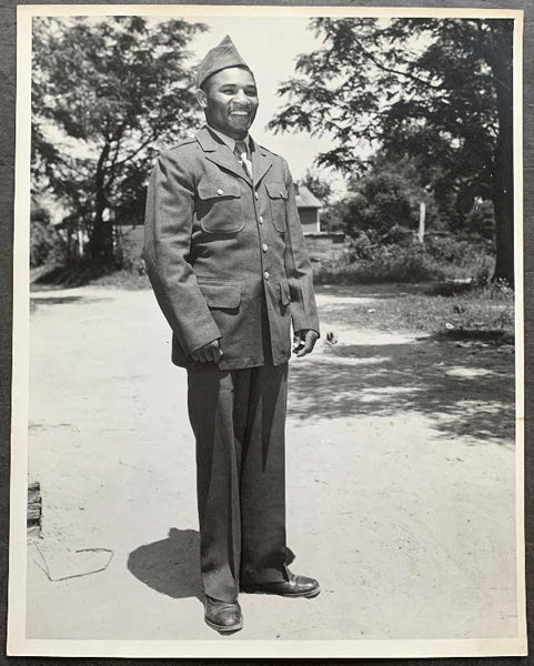 JACK, BEAU ORIGINAL LARGE FORMAT WIRE PHOTO (1943-IN ARMY)