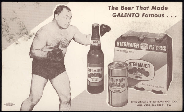 GALENTO, TONY ADVERTISING POSTCARD