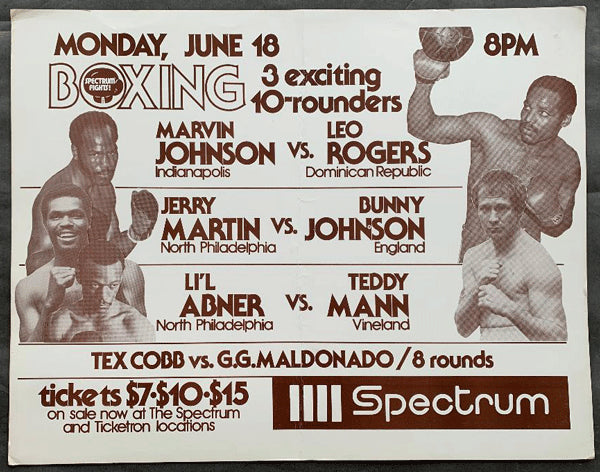 JOHNSON, MARVIN-LEO ROGERS ON SITE POSTER (1979)