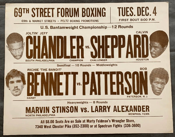 CHANDLER, JEFF-FRANCISCO ALVARADO ON SITE POSTER (1979)