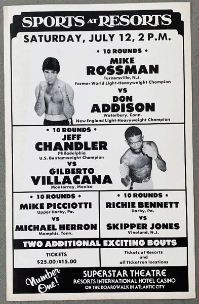 CHANDLER, JEFF-GILBERTO VILLACANA & MIKE ROSSMAN-DON ADDISON ON SITE POSTER (1980)