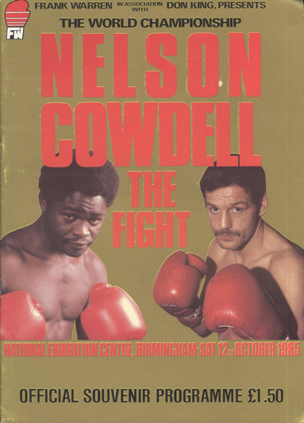 NELSON, AZUMAH-PAT COWDELL OFFICIAL PROGRAM (1985)