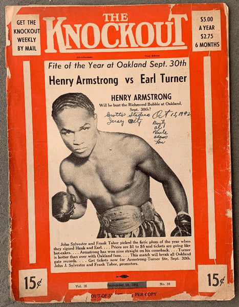 ARMSTRONG, HENRY-EARL TURNER OFFICIAL PROGRAM (1942)