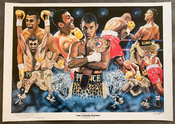 HAMED, PRINCE NASEEM  LITHOGRAPH POSTER (1995-ROBINSON FIGHT-SIGNED BY ARTIST)