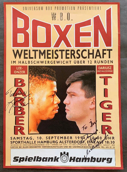 MICHALCZEWSKI, DARIUSZ-LEEONZER BARBER ON SITE POSTER (1994-SIGNED BY BOTH)