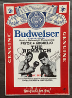 PRYOR, AARON-ALEXIS ARGUELLO II SIGNED BUDWEISER ADVERTISING POSTER (