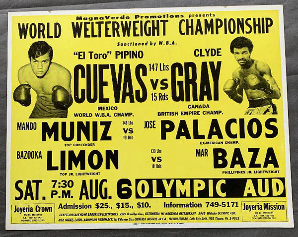 CUEVAS, PIPINO-CLYDE GRAY ON SITE POSTER (1977)