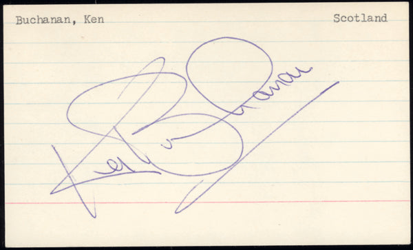 BUCHANAN, KEN SIGNED INDEX CARD