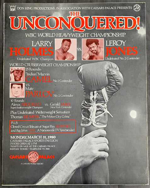 HOLMES, LARRY-LEROY JONES & ALEXIS ARGUELLO-GERALD HAYS ON SITE POSTER (1980)