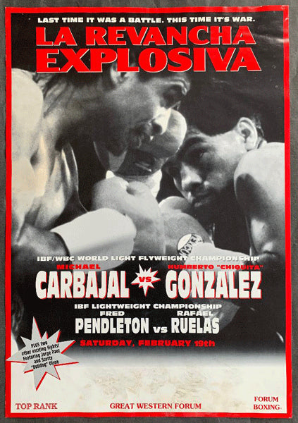 CARBAJAL, MICHAEL-HUMBERTO GONZALEZ ON SITE POSTER (1994)