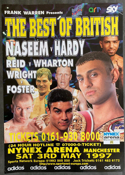 HAMED, PRINCE NASEEM-BILLY HARDY ON SITE POSTER (1997)
