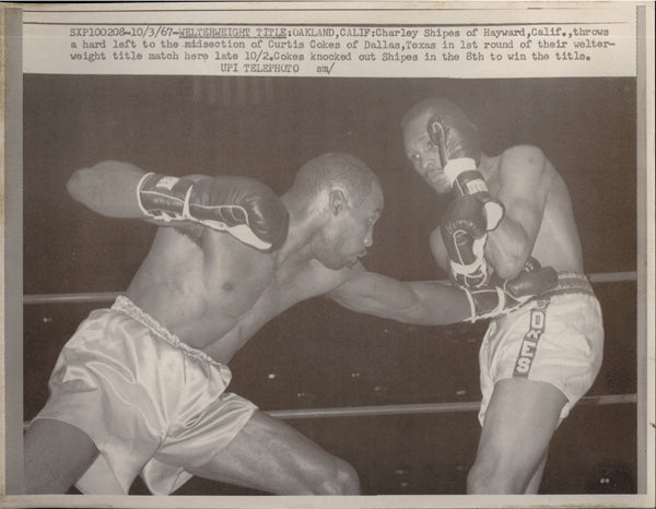 COKES, CURTIS-CHARLEY SHIPES WIRE PHOTO (1967-1ST ROUND)