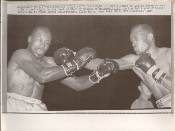 COKES, CURTIS-CHARLEY SHIPES WIRE PHOTO (1967-2ND ROUND)