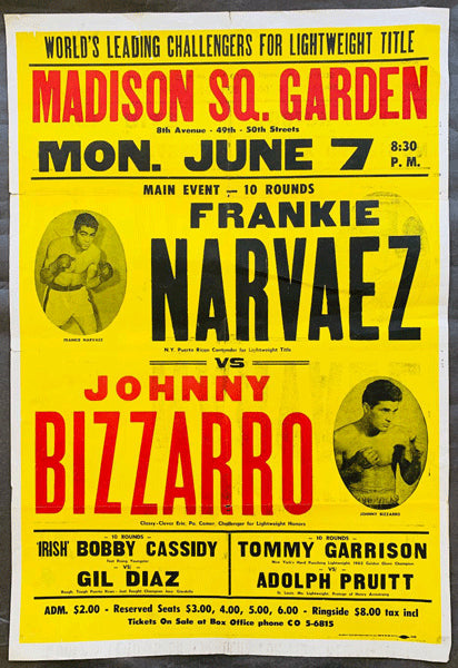 BIZZARRO, JOHNNY-FRANKIE NARVAEZ & BOBBY CASSIDY-GIL DIAZ ON SITE POSTER (1965)
