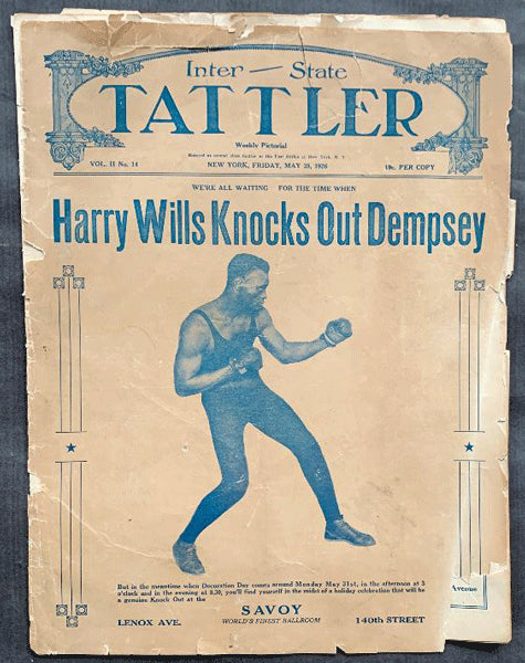 "WILLS, HARRY ""KNOCKS OUT DEMPSEY"" MAGAZINE (1926)"