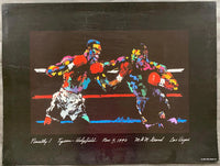 TYSON, MIKE-EVANDER HOLYFIELD I SOUVENIR LEROY NEIMAN POSTER (1996)