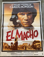 MONZON, CARLOS ORIGINAL FILM POSTER FOR EL MACHO (1977-LARGE VERSION)