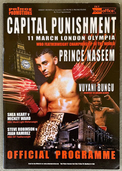 HAMED, PRINCE NASEEM-VUYANI BUNGU & MICKY WARD-SHEA NEARY OFFICIAL PROGRAM (2000)