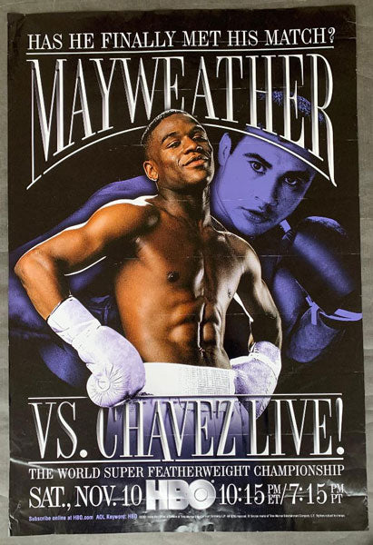 MAYWEATHER, JR., FLOYD-JESUS CHAVEZ HBO POSTER (2001)