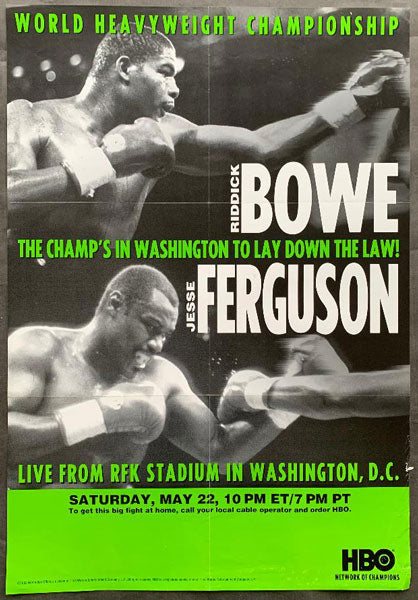 BOWE, RIDDICK-JESSE FERGUSON & ROY JONES, JR.-BERNARD HOPKINS HBO POSTER (1993)